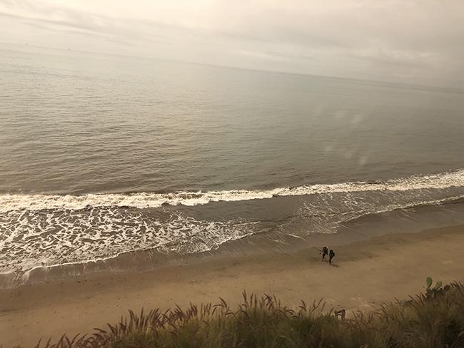 train ride: beach