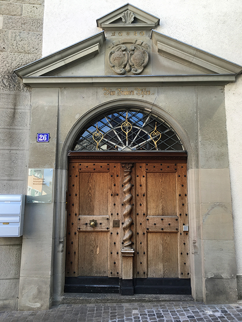 Door in Zürich, 2018