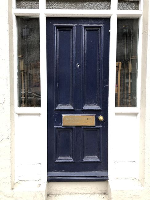 door of Oscar Wilde's home