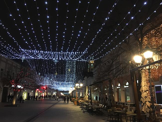 Christmas lights in Novi Sad