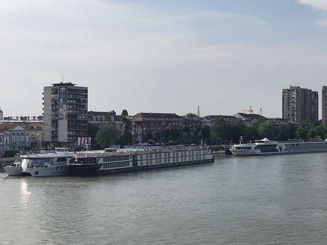 Cruise ships on the Danube