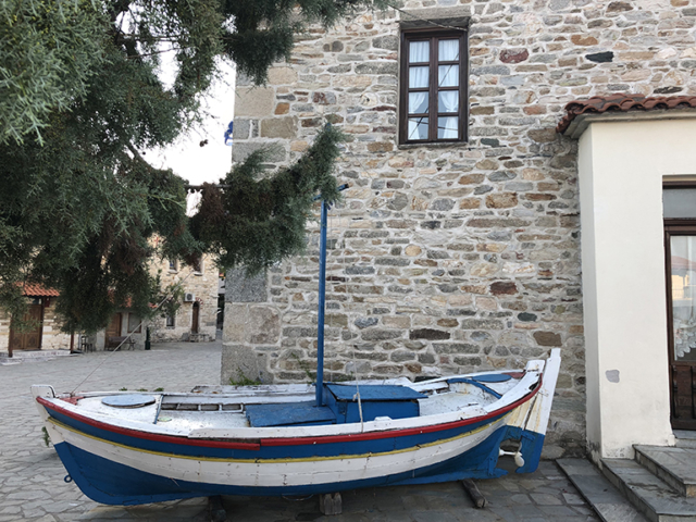 boat on the land