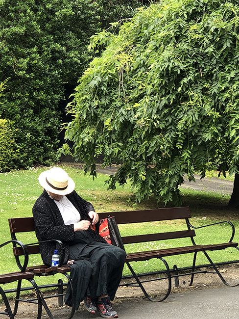 lady on the bench