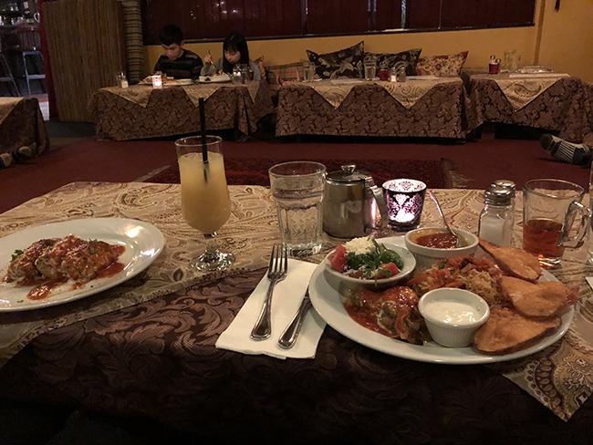 Dinner with Afghan Tea
