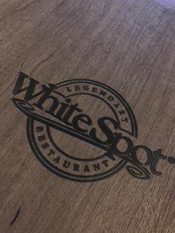 White Spot menu